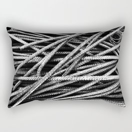 Rebar And Spring - Industrial Abstract Rectangular Pillow
