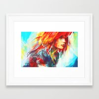 red Framed Art Prints featuring Airplanes by Alice X. Zhang