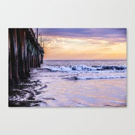 Ever Changing Cayucos Pier and Beach California Canvas Print