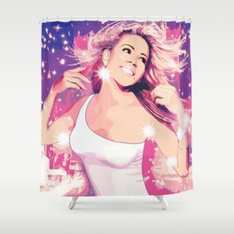 Mariah Glitter Album Cover Shower Curtain