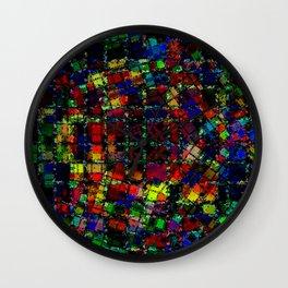 Urban Psychedelic Abstract Wall Clock