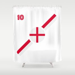 English flag soccer team jersey Shower Curtain