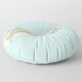 Nantucket Whale Floor Pillow