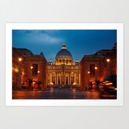 Papal Basilica of St. Peter in the Vatican Art Print