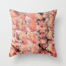 011: a bright contemporary abstract design in pinks black and white by Alyssa Hamilton Art  Throw Pillow