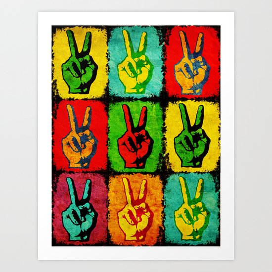 A colorful peace Art Print