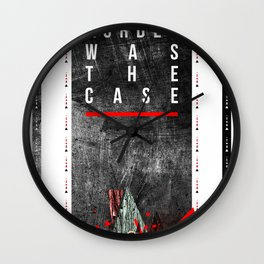 MURDER WAS THE CASE Wall Clock