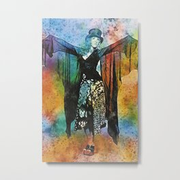 Stevie Nicks Watercolour Metal Print