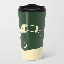 MGB, Racing Green on Cream Travel Mug