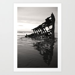 Ghost Ship - Astoria, OR. Art Print