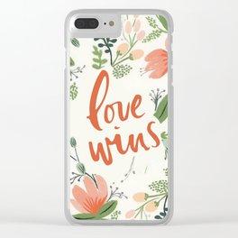Love Wins Clear iPhone Case