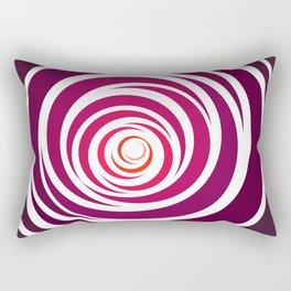Spinnin Round Crimson Rectangular Pillow