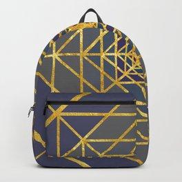Gold Plated Preppy Blue Mandala Backpack