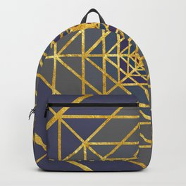 Gold Plated Preppy Blue Mandala Backpack