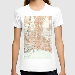 Vintage Map of Long Beach California (1949) 2 T-shirt