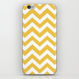 Maize (Crayola) - yellow color -  Zigzag Chevron Pattern iPhone Skin