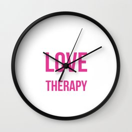 Peace, Love, and Occupational Therapy Positive T-shirt Wall Clock