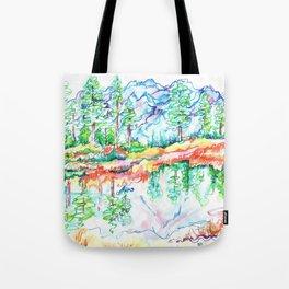 Colorful landscape Tote Bag