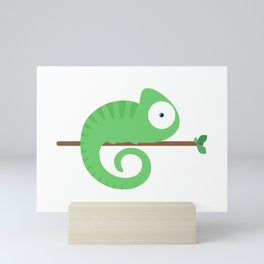 Carlos the Chameleon Mini Art Print
