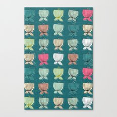 flower cups teal Canvas Print