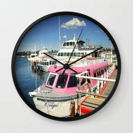 Colourful Boat Wall Clock