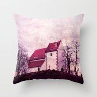 faith Throw Pillows featuring faith by Claudia Drossert