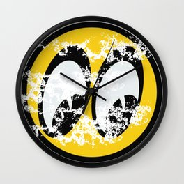 Moon Eyes Distressed Wall Clock
