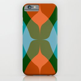 Modern Groove - Biscay Green iPhone Case