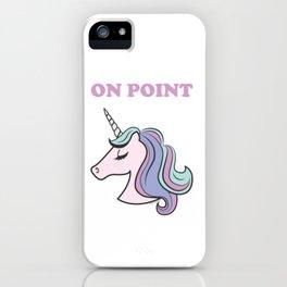 On Point Unicorn iPhone Case