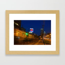 Boston Ma Green Line Train On The Move Framed Art Print