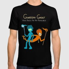 Guardian Ghost- Max and Dave Black SMALL Mens Fitted Tee