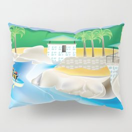 Dominican Republic - Skyline Illustration by Loose Petals Pillow Sham