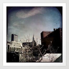 Winter Chill in the City Art Print