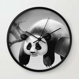 Hang In There, Panda! Wall Clock
