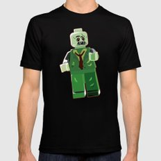 Zombie MEDIUM Mens Fitted Tee Black