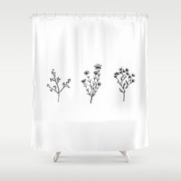 Wildflower Trio Shower Curtain