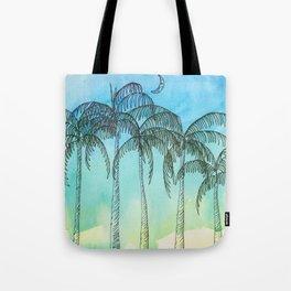 Palm Tree Night lovers Tote Bag