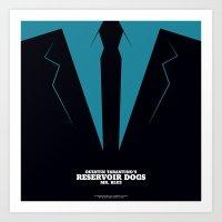 reservoir dogs Art Prints featuring Reservoir Dogs Mr. Blue by Arden Avett