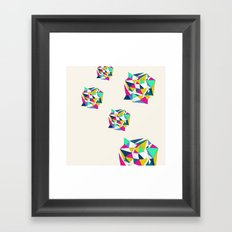 Geometric Worlds Framed Art Print
