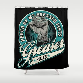 Greaser Rules Shower Curtain