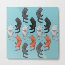 Sleeping Cats Pattern Metal Print