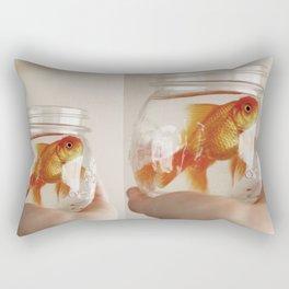 jar of fish Rectangular Pillow