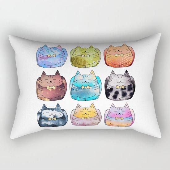 Colorful Cats Rectangular Pillow