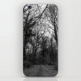 Monochromatic forest path iPhone Skin