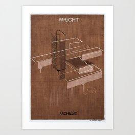 08_Archiline- frank lloyd wright Art Print