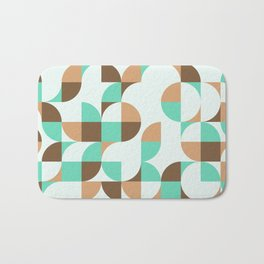 Mint and Chocolate Fresh Pattern Bath Mat