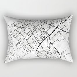 The Hague Light City Map Rectangular Pillow