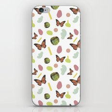 butterflies and plaid iPhone & iPod Skin