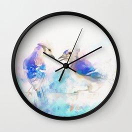 Cerulean Singers Wall Clock