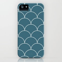 Scales - blue iPhone Case